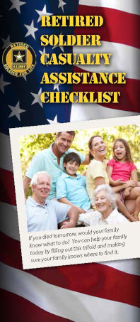 Retired Soldier Casualty Assistance Checklist