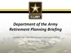 Informational Retirement Planning Briefing (13 January 2021)